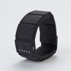 iPower Watch in Black, clasped and upright on white background