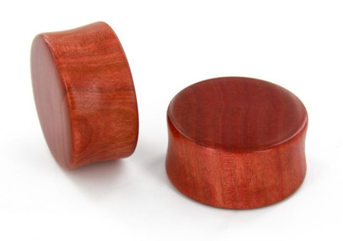 12mm 34mm Price Per 1 Elementals Organics Areng Wood with MOP HEART Inlay Double Flare Solid Natural Plug