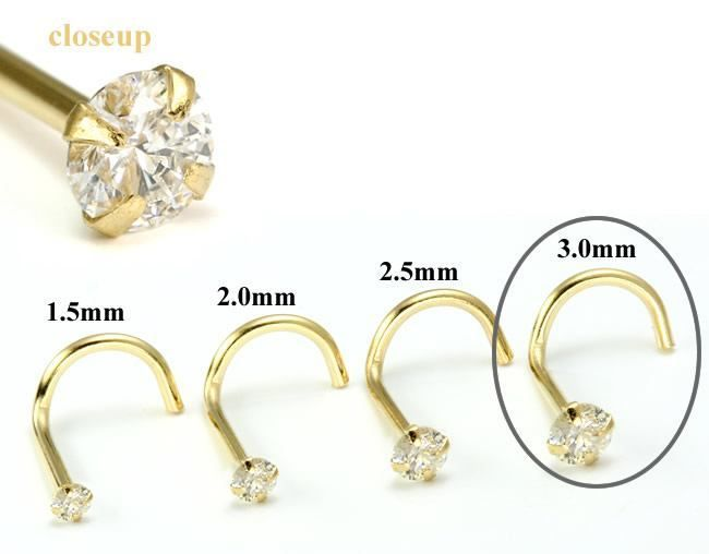 Painful Pleasures Yellow Gold 20g Heart Nose Screw