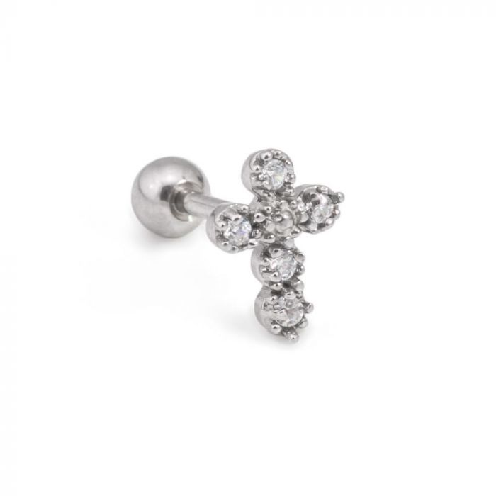 16 GA Pointy Crystalline 316L Surgical Steel Fake Plug - Ball Size: 1//4 1.2mm 6mm - Sold as a Pair