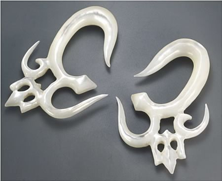 Mother of Pearl SKULL Intricate Hanger Organic Jewelry 2mm-8mm Price Per 2