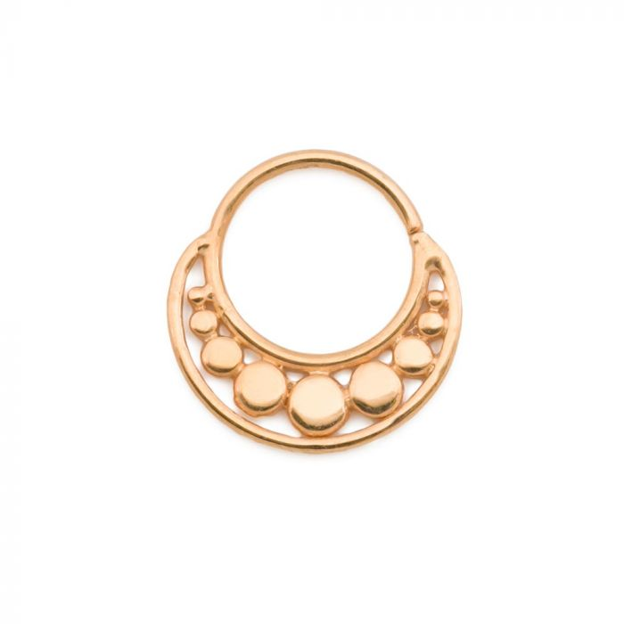 Elementals Organics Gold Plated Beaded Clip On Septum Ring