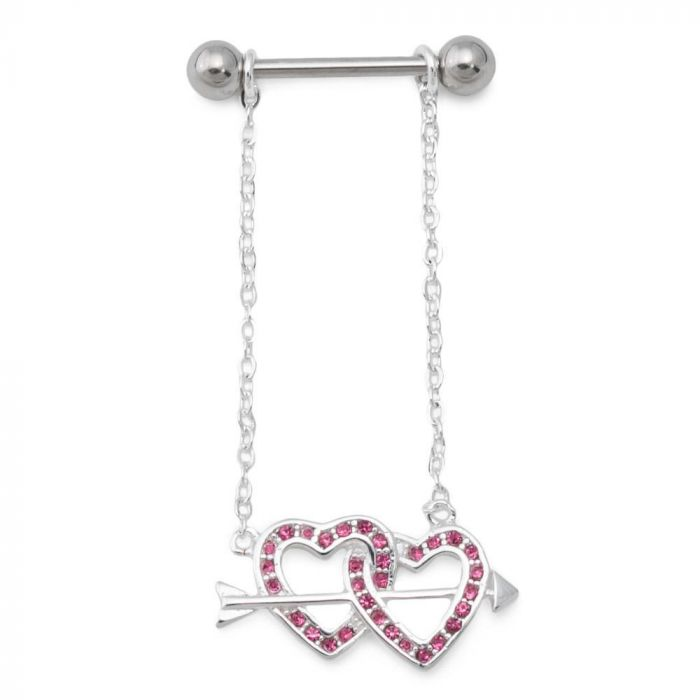 Dynamique 316L Surgical Steel Nipple Shield Gem Embedded Filigree Sold Per Pair or Per Piece