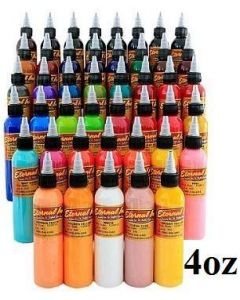 Full 50 Color Set - 4oz Bottles - Eternal Tattoo Ink