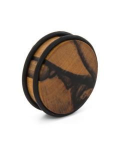 Elementals Evolved Solid Flat Double O-Ring Wood Plug – Custom Made – Price Per 1