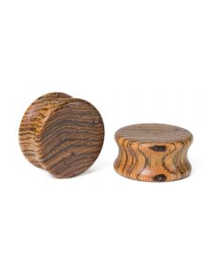 Elementals Evolved Solid Flat Double Flared Wood Plug – Custom Made – Price Per 1