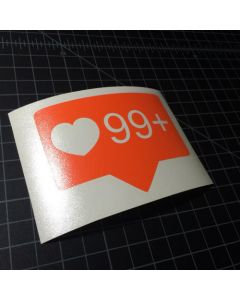 Limitless Instagram Heart Sticker - 99+