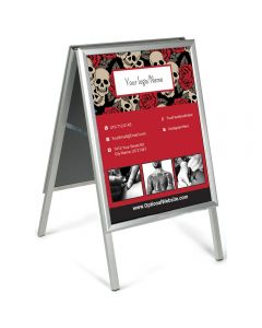 "A-Frame Write-On Sidewalk Signs — 21"" x 27"" — Red Skulls"