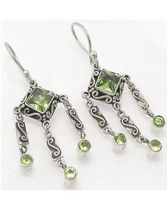 Light Green Bali Earrings