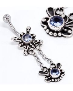 "Star Burst 14g 7/16"" Bali Style Belly Button Rings"