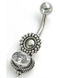 Bali Silver Sun Indonesian Belly Jewelry