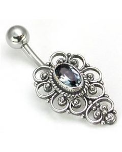 5 Hearts Indonesian Belly Button Ring