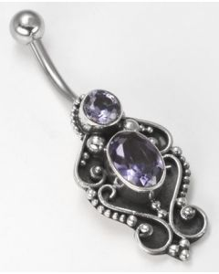 Plinth Indonesian Pierced Belly Button Ring