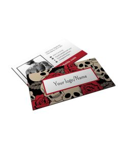 "Business Cards — 2"" x 3.5"" — Choose Your Background — Red Skulls"