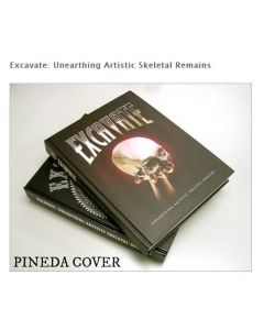 Excavate: Unearthing Artistic Skeletal Remains by Jinxi Caddel – Hardcover Book Front Cover
