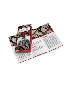 "Tri-Fold Brochure — 8.5"" x 11"" — Choose Your Background — Red Skulls"