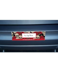 Bumper Stickers — Choose Your Size and Background — Red Skulls