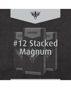 #12 Magnum Stacked Premade Sterilized Tattoo Needles on Bar - Box of 50