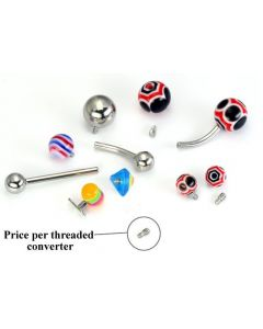 Convert Your Jewelry With Our  1.2mm Converter Post for Changing 14g Externally-Threaded Body Jewelry Into Internal 1.2mm Jewelry
