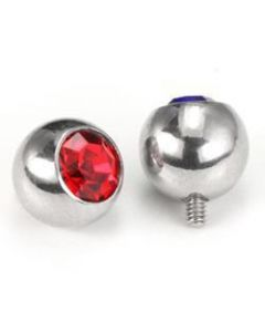 Swarovski Crystal Gem Ball in 6 Sizes & 14 Color Options for 12g or 14g Internally-Threaded Body Jewelry