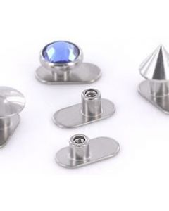 10g Titanium Dermal Anchor With Solid Base & 3 Rise Options