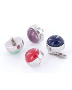 5.4mm Real Stone Tops for 12g or 14g Internally-Threaded Body Jewelry