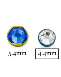 14g-12g Titanium 4.4mm Jeweled Prong Set Top Close Up