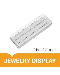 Custom Engraved 16g Internal Acrylic Display Solid Block with 42 Posts – Jewelry Display