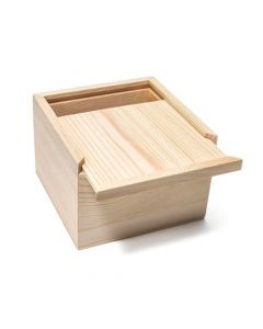 Unfinished Pine Wood Box with Lid