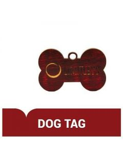 Engraved Dog Tag Wooden Pendant (Thumbnail)