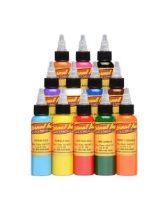 Sample Color Set of 12 - 4oz Bottles - Eternal Tattoo Ink (Thumbnail)
