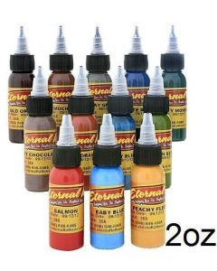 Muted Earth Tone Color Set of 12 - 2oz Bottles - Eternal Tattoo Ink