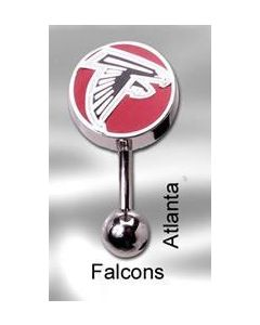 "14g 7/16"" NFL Reverse Top Down Belly Button Ring – Atlanta Falcons"