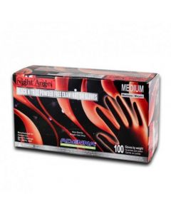 Night Angel Black Nitrile Medical Gloves – Price Per Box