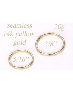 14kt Yellow Gold 20g Seamless Ring