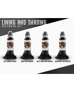 Lining and Shading Ink Set by World Famous Ink — 1 oz. Bottles — Price Per 1