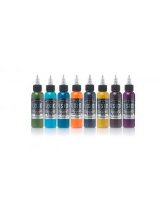Juan Salgado 8-Color Palette Signature Set – Fusion Tattoo Ink – 1oz