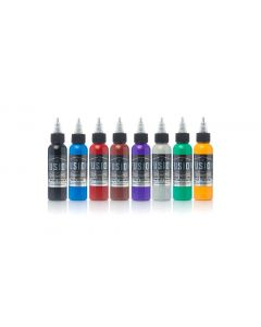Rick Walters 8-Color Palette Signature Set – Fusion Tattoo Ink – 1oz