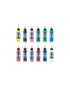Sample Pack 12-Color Set – Fusion Tattoo Ink – 1oz