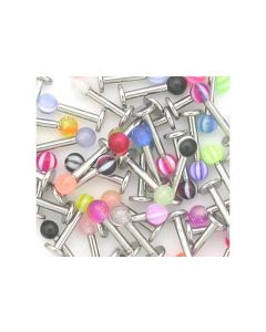 16g Labret Deal with Acrylic Balls - Price Per 10