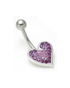 Jewel Explosion Heart Belly Button Ring