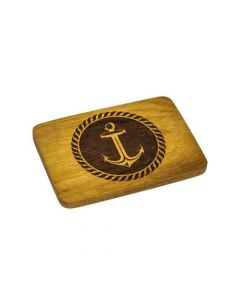 Anchor Engraved Wooden Belt Buckle on Jackfruit Wood