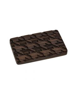 Houndstooth Engraved Wooden Belt Buckle on Areng Wood