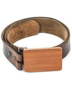 Saba Wooden Belt Buckle - Plain Wood Belt Buckle