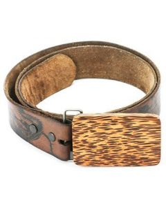 Coconut Wooden Buckle - Plain Wood Belt Buckle