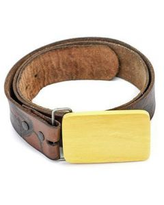 Crocodile Wooden Belt Buckle