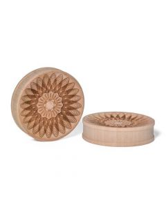 Sacred Geometry Flora Engraved Concave Wood Plug – Price Per 1