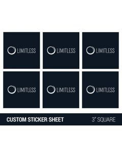 "Custom 3"" Square Sticker Sheet"