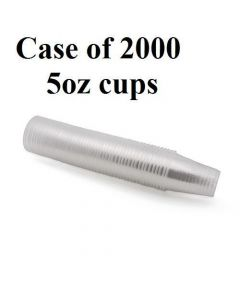 5oz Disposable Plastic Cups – Price Per Case of 2000 Cups