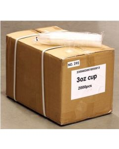 3oz Plastic Cups for Rinse, Ultrasonic & More - Price Per Sleeve of  Case